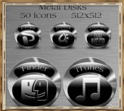 FREE Metal Disks Icons